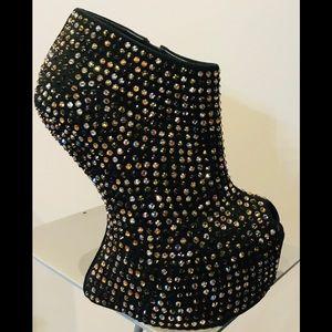 Lady Gaga Giuseppe Zanotti Swarovski Crystal Boot